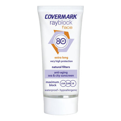 صورة covermark ray block face 80 spf واقي شمس SPF 80 لون بيج