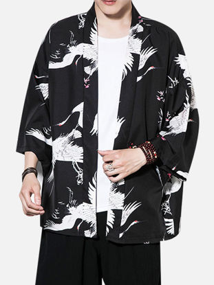 Picture of Men's Sun Proof Coat Animal Printed Loose Outerwear