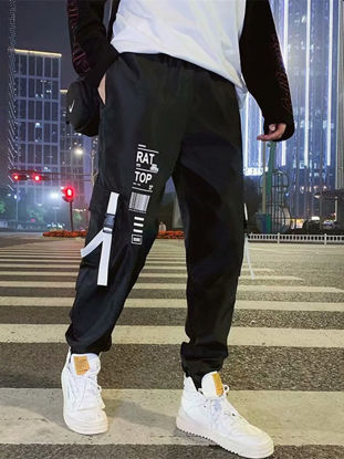 Picture of Men's Active Pants Street Style Multi Pockets Design Fashion Pants