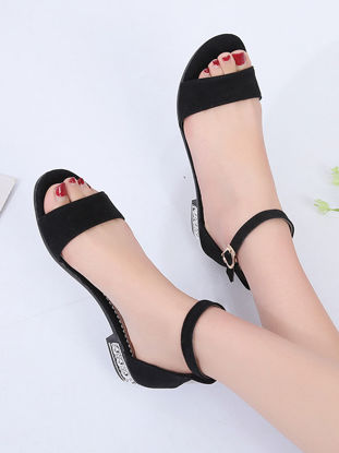 Picture of Women's Sandals Square Heel All Match Chic Fashion Casual Shoes