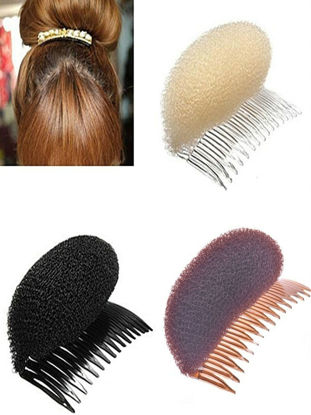 Picture of 3 Pcs Women's Hair Clip Simple Style Sponge Bomb Hair Accessory