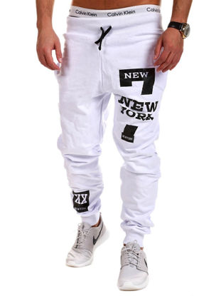 Picture of Men's Casual Pants Sports Style Print Mid Waist Long Pants