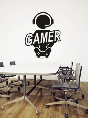 Picture of Wall Stickers Gamer Pattern Colored PVC DIY Wall Decals