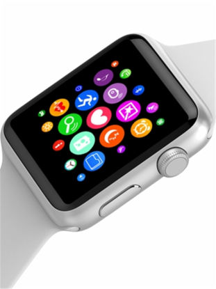 Picture of Bluetooth Watch 1.3Inch Screen Heart Rate Monitoring Universal Versatile Silver Sports Watch