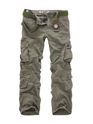 Picture of Men's Casual Pants Outdoor Leisure Straight Long Cargo Pants