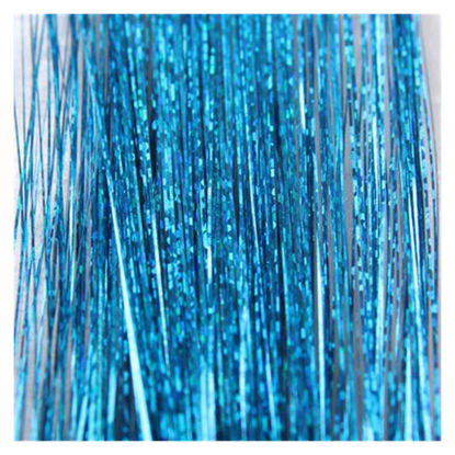 Picture of 100 Strands/Pack Women's Tinsel Hair Extensions Shining Hair Accessory