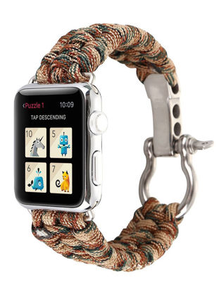 Picture of Watch Band For iWatch 38mm/42mm Camo Paracord Outdoor Nylon Durable Fashion Band