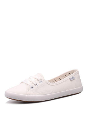 Picture of Women's Canvas Shoes Solid Color Light Weight Lacing Design Casual Shoes