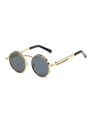 Picture of Men's Sunglasses Vintage Style Round Circle Frame Design Stylish Sunglasses Accessory
