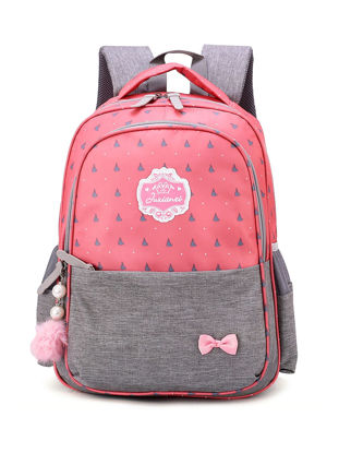 Picture of Kids School Bag Color Block All Match High Quality Durable Bag