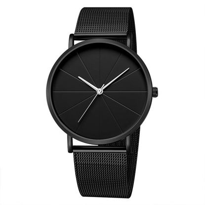 Picture of Men's Quartz Watch Ultra-thin Steel Band Waterproof Wrist Watch Accessory