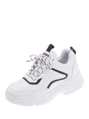 صورة Women's Sports Shoes Thick Sole Casual Lace Up Shoes