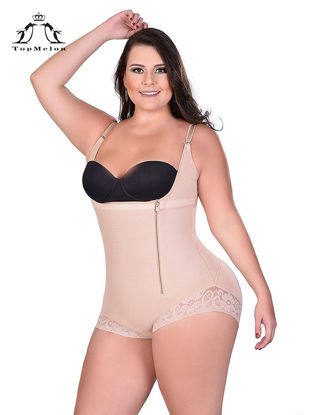 Picture of Women's Corset Faddish Solid Color Body Slimming Zipper Shapewear