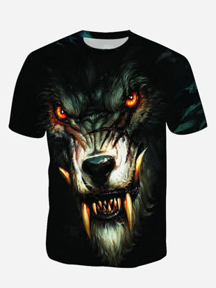 Picture of Men's T Shirt Fashion 3D Printed O Neck Short Sleeve Top