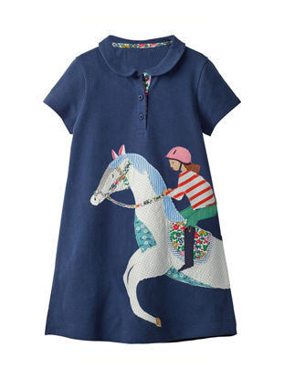 Picture of Girls Dress O Neck Short Sleeve Embroidery Fashion Casual Dress