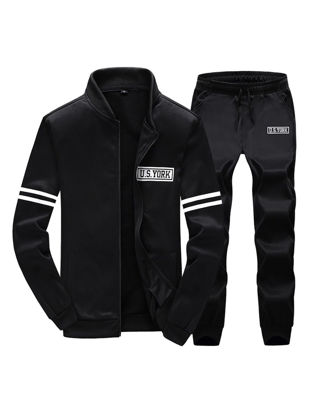 Picture of Men's Activewear Sets Long Sleeve Zipper Coat Casual Pants Sets