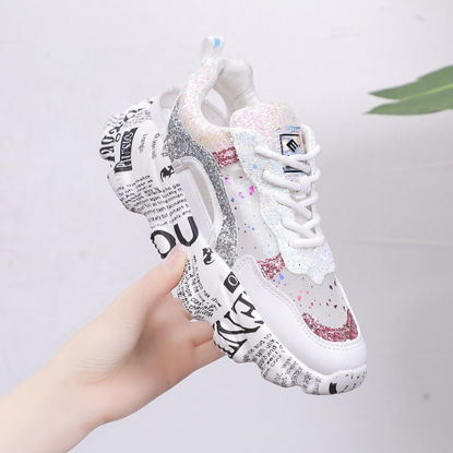 Picture of Women's Sports Shoes Comfy Hollow Out Breathable Damping Shoes
