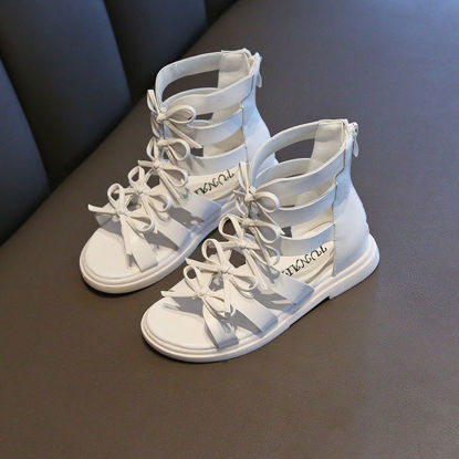 Picture of Girl's Sandals Lacing Solid Color Gladiator Fashion Sandals