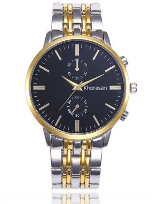 Picture of Men's Wrist Watch Business Big Dial Steel Band Quartz Watch Accessory