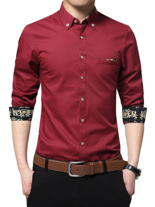 Picture of Men's Shirt Faddish Long Sleeve Business Chic Style Shirt
