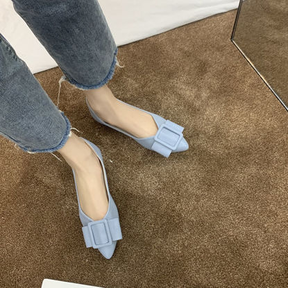 Picture of Women's Flats Casual Lightweight Anti-Skidding Bow Comfortable Fashion Shoes