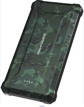 Picture of RAVPower RP-PB096 10050mAh PD 18W+QC3.0 Waterproof Power Bank camouflage Offline