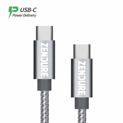 Picture of Zendure 50cm Nylon Braided USB-C to USB-C Cable Gray