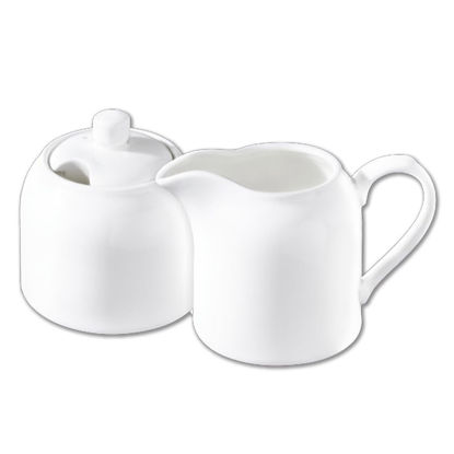 صورة SUGAR BOWL & CREAMER SET IN COLOUR BOX