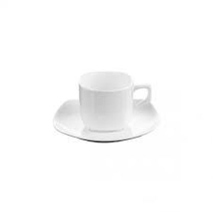 صورة 3 OZ | 90 ML COFFEE CUP & SAUCER  SET OF 2 IN COLOUR BOX