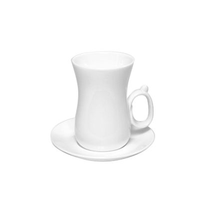 صورة  TEA CUP & SAUCER SET OF 6 IN COLOUR BOX 4 OZ | 120 ML