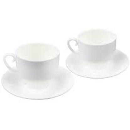 صورة 5 OZ | 160 ML TEA CUP & SAUCER SET OF 6 IN COLOUR BOX
