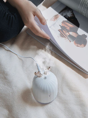 Picture of Cute USB Humidifier Night Light 2 In 1 Nano Atomized Timing Colorful Atmosphere Light