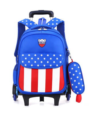 Picture of Kid's Trolley Bag With Small Bag Boy's/Girl's School Bag