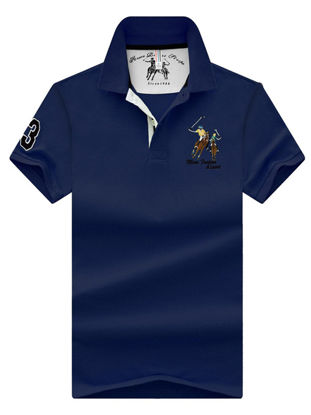 Picture of Men's Polo Shirt Short Sleeve Turn Down Collar Stylish Top