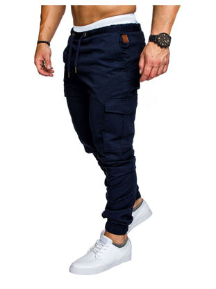Picture of Men's Cargo Pants Pocket Drawstring Waist Fashion Trousers