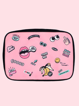 Picture of Luggage Bag Portable Cute Cartoon Pattern Storage Bag