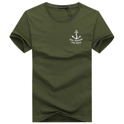 Picture of Short-sleeved T-shirt male plus fertilizer XL youth half-sleeved T-shirt tide small