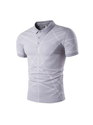 Picture of Men's Polo Shirt Casual Cozy Short Sleeve Cotton Blends Polo Shirt