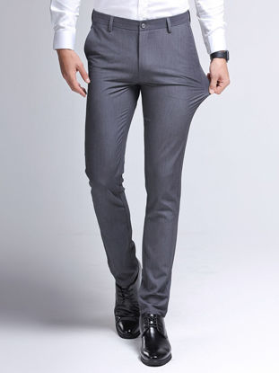 Picture of Thin section middle-aged men's casual pants loose high waist cotton daddy straight leg men's pants long pants
