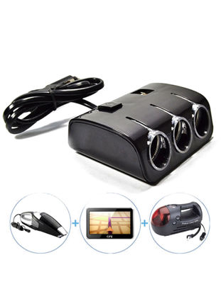 Picture of Multifunctional 2 In 1 Cigarette Lighter LED Power Distribution Car Charger