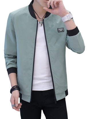 Picture of Men's Casual Jacket Fashion Solid Color Comfy All Match Jacket
