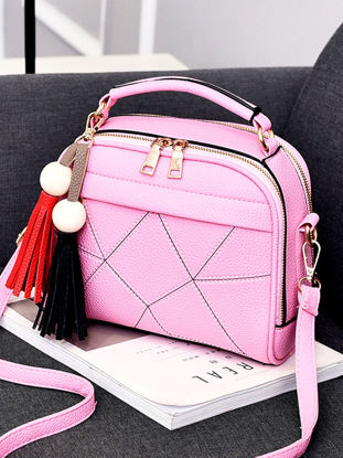 Picture of Women's Handbag Simple Tassel Design Casual Durable Sweet Style Handbag