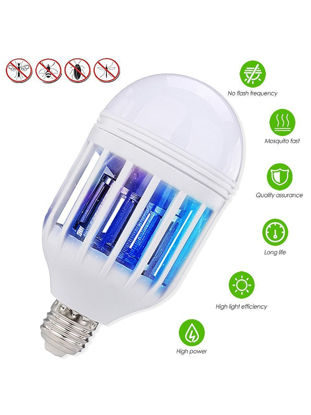 Picture of Mosquito Killer LED Light Bulb E27 Base 15W 2-In-1 Mosquito Repellent Lamp