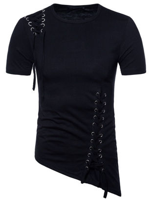 Picture of Men's T-Shirt Personality Breathable Trendy Plus Size Classic Tee
