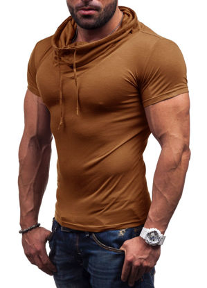 Picture of Men's Polo Shirt Solid Color Short Sleeve Stylish Collar Casual Comfy Polo Shirt