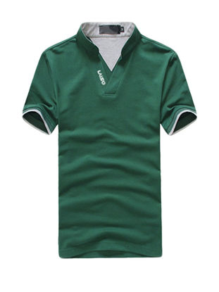 Picture of Plus Size Stand Collar Polo Shirt For Men