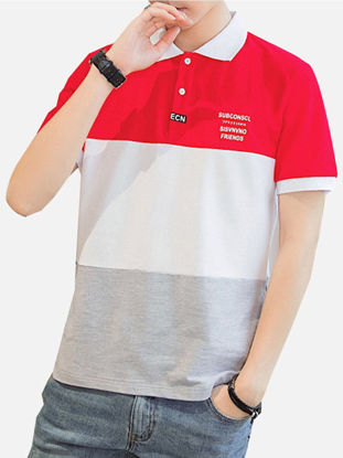 Picture of Men's Polo Shirt Fashion Wearable Short Sleeve Top