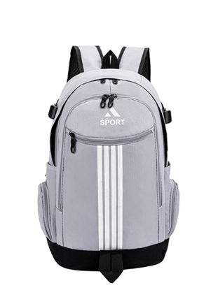 Picture of Sports Backpack Large Capacity Striped Outdoor Travel Bag