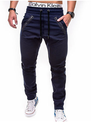 Picture of Men's Casual Pants Stylish Slim Casual Full Length Trousers