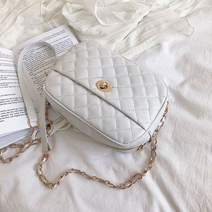 Picture of Women's Crossbody Bag Quilted Chain Zipper Closure Bag